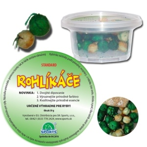 SPORTS Rohlikové boilies 12/16mm, 30g