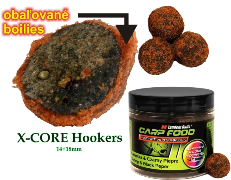 TANDEM BAITS Superfeed xcore hookers 14/18mm, 200ml